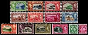 Trinidad & Tobago Scott 50-61 (1938-41) Mint H VF Complete Set, CV $81.30 M
