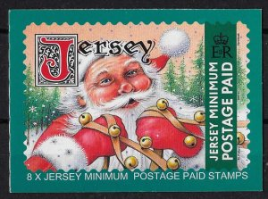Jersey 2001 Christmas booklet incl 8x local postage + 8x UK, current face value
