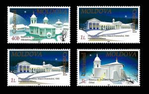 Moldova 2001 Christmas Monastery Architecture 4 MNH stamps