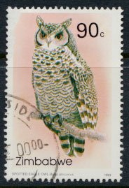 Zimbabwe SG 852  SC# 684  Used   Owls   see detail and scan