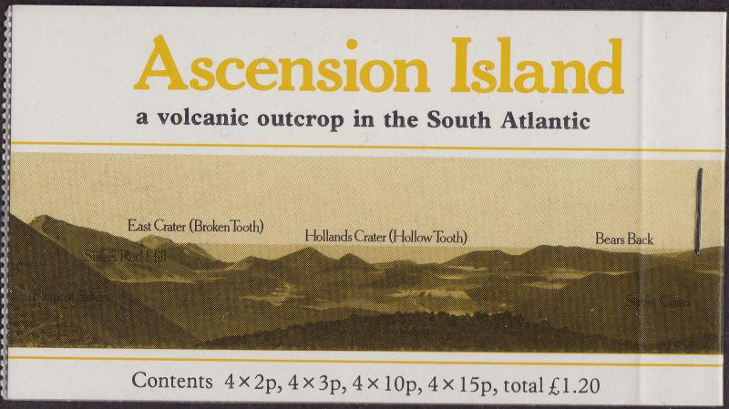 ASCENSION ISLAND MNH Scott # 282 Flowers Complete Booklet (16 Stamps)
