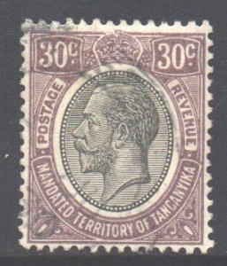 Tanganyika Scott 34 - SG98, 1927 George V 30c Violet used