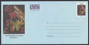 BARBADOS 2002 80 Christmas aerogramme unused................................K297