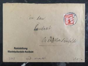 1944 Marktheidenfeld Germany Cover Domestic Used