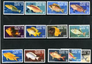 PITCAIRN ISLANDS 231-243 MNH SCV $10.50