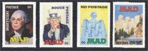 Alfred E Neuman Mad Magazine Fantasy Stamps of Uncle Sam Washington Lincoln