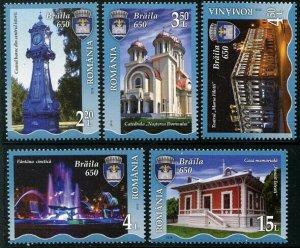 HERRICKSTAMP NEW ISSUES ROMANIA Sc.# 6054-58 Braila City