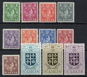 St Lucia 1949 KGVI p/set (12v.) mint