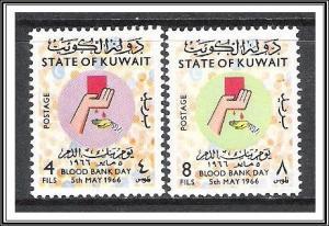 Kuwait #327-328 Blood Bank Day MNH
