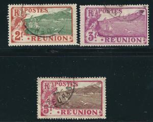 Reunion 96-98 Y&T 70, 71, 118 Used F/VF 1907-30 SCV $20.50