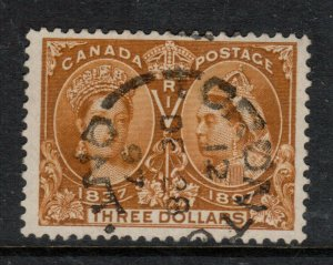 Canada #63 Extra fine Used With Dec 28 1897 Superb CDS Cancel **With Cert.**
