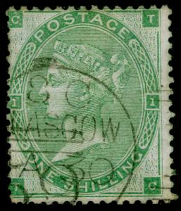 SG90, 1s green, USED, CDS. Cat £300. TC