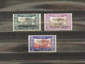 6369   Wallis Futuna   MH # 104, 108, 109                 CV$ 11.25