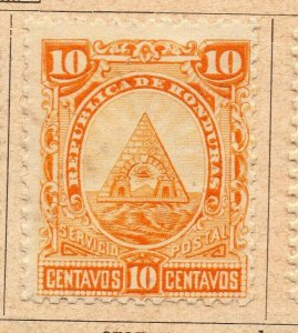 Honduras 1890 Early Issue Fine Mint Hinged 10c. NW-11875