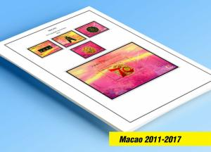 COLOR PRINTED MACAO 2011-2017 STAMP ALBUM  PAGES (82 illustrated pages)