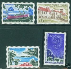 FRANCE Scott 1278-81 MNH** Tourism Stamp Set 1970