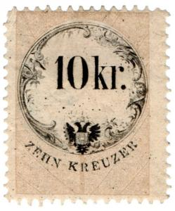 (I.B) Austria/Hungary Revenue : Stempelmarke 10kr