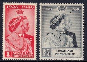 Somaliland Protectorate - Scott #110-111 - MH - Gum toning - SCV $7.00