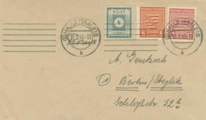 Germany Soviet Zone East Saxony 4pf Numeral Imperforate with Saxony Province ...