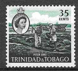 Trinidad and Tobago 1960 35 cents Ashphalt Lake, used, Scott #98