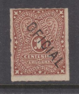 URUGUAY, Official, 1880 1c. Brown, lhm.