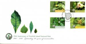 Norfolk Island 2011 FDC National Park 4v Cover Hibiscus Flowers Plants Stamps