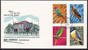 NEW HEBRIDES FRENCH 1972 Birds FDC.........................................68416