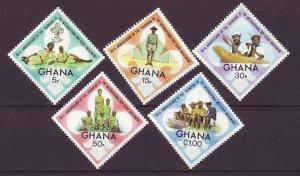 J24445 JLstamps 1972 ghana mnh set #460-4 scouts