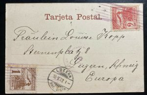 1902 Honduras RPPC Postcard cover To Lucerne Switzerland Ampala View