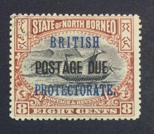 MOMEN: NORTH BORNEO SG # 1902 POSTAGE DUE MINT OG H £ LOT #6933
