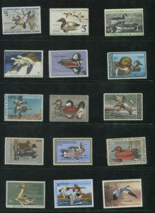 United States Federal Hunting Duck Stamps #RW41-RW64 Mint Never Hinged F/VF Set