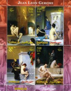 Somalia 2004 JEAN LEON JEROME French Painter Nudes Sheet Perforated Mint (NH)