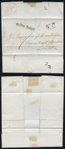 1838 17 Feb Wrapper to the Marquis of Winchester SUPERB Unframed TO PAY 1d. ONLY