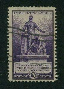 US 1940 3c violet Thirteenth Amendment, Scott 902 used,  Value = 25c