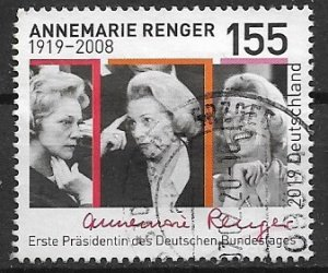 Germany recent 2019 used  Annemarie Renger high value