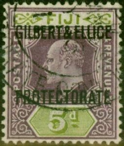 Gilbert & Ellice Islands 1911 5d Purple & Olive-Green SG5 V.F.U