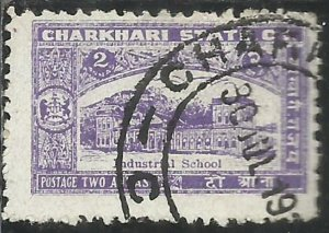 CHARKHARI STATE INDIA INDE 1931 INDUSTRIAL SCHOOL 2a USATO USED OBLITERE'