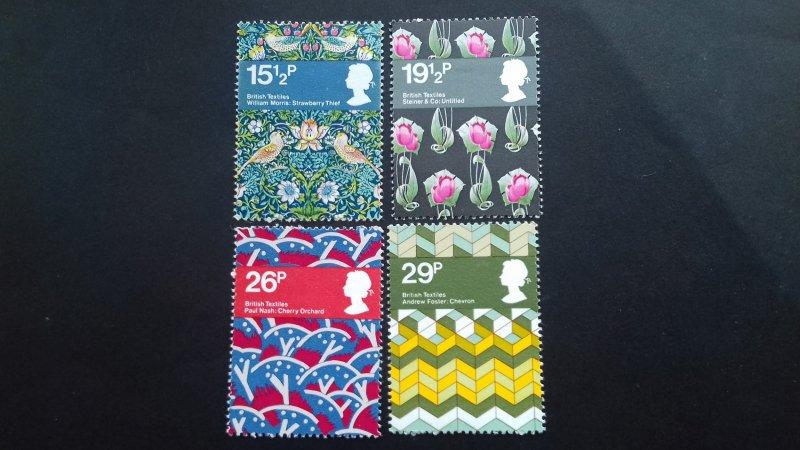 Great Britain 1982 Textile Designs Mint