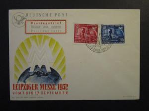 Germany DDR SC# 108 / 109 Set on 1952 FDC / Unaddressed / Cacheted - Z4507