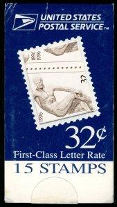 US #3087 BK252 MAKE-SHIFT BOOKLET, Olympic Centennial, VF/XF mint never hinge...