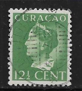 CURACAO, 176, USED, QUEEN WILHELMINA