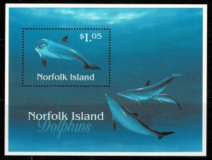 Norfolk Island 1997 Dolphins M/s