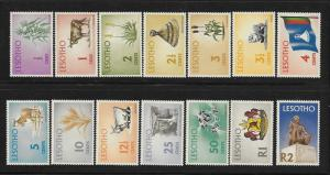 Lesotho 1971 Def Corn Diamonds Coat of Arms Pony Sheep Flag MNH