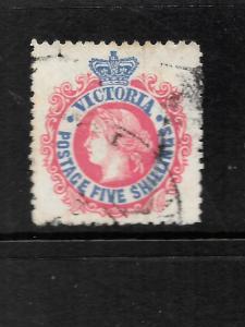 VICTORIA  1905-13  5/-   QV    FU     SG 430a