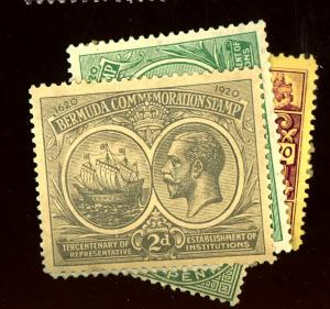 Bermuda #18 22 26 43 71 74 76 82 85 MINT F-VF OG LH/HR Cat $45
