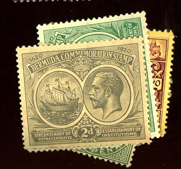 Bermuda #18 22 26 43 71 74 76 82 85 MINT F-VF OG LH/HR Cat $45