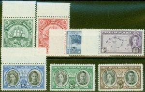 Turks & Caicos Is 1948 Seperation set of 7 SG210-216 V.F MNH & VLMM
