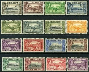 Sierra Leone 1938- 45 KGVI set complete SG 188 to SG200 Mounted Mint