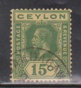 CEYLON Scott # 236a Used - KGV Definitive Watermark 4