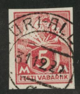 Estonia Scott 62 used imperforate stamp  1922 C V$8